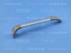 Ручка двери серая с хромированной вставкой  Bosch, Siemens (701136)