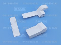 Комплект накладок верхней левой петли холодильника Samsung (DA63-08034C + DA61-08932B)