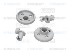 Комплект из 2-х роликов посудомоечной машины Bosch, Siemens, Gaggenau, Neff (066320)