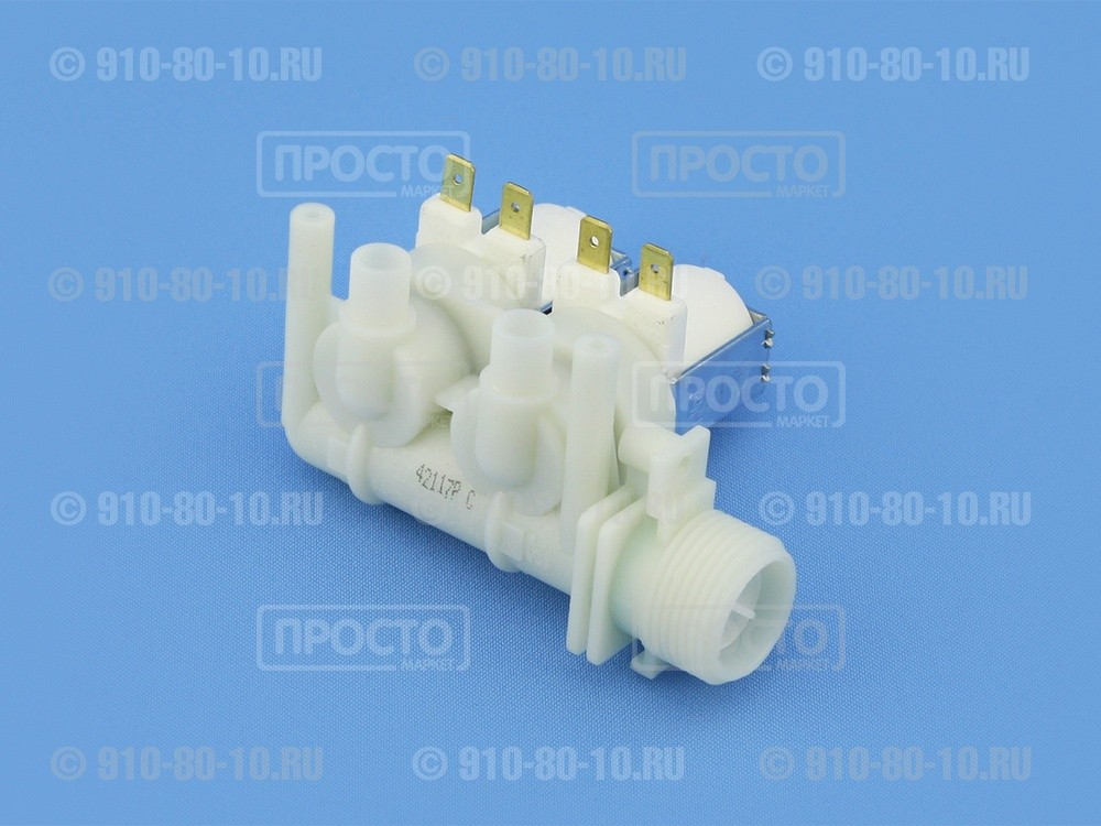 Клапан подачи воды (КЭН) стиральной машины Indesit, Ariston, Whirlpool (C00066518)