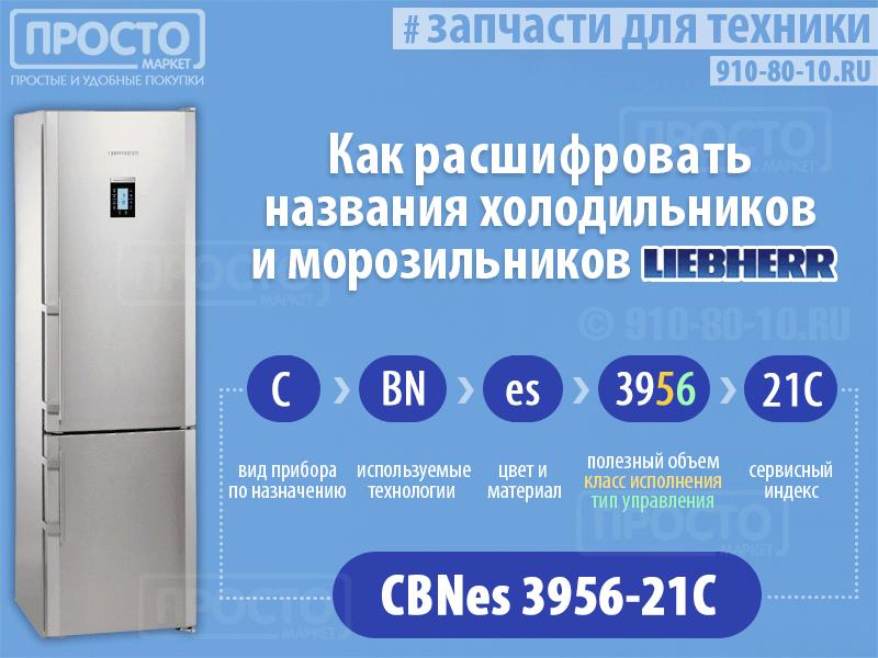 правила маркировки холодильников Liebherr